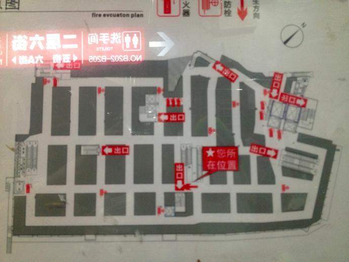 広州金馬市場見取り図